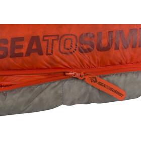 Sea to Summit Flame FmIV Slaapzak Lang Dames, grijs/rood